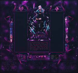 Evelynn - KDA - League Of Legends Layout by Odorare-Design