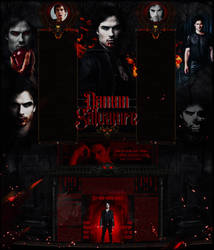 Damon Salvatore -  Vampire Diaries Layout Design by Odorare-Design