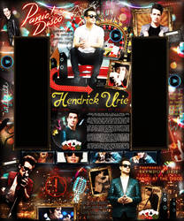 Brendon Urie - Panic At The Disco layout by Odorare-Design