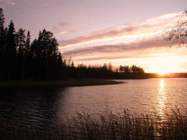 Autumn sunset IV by Marraslaakso