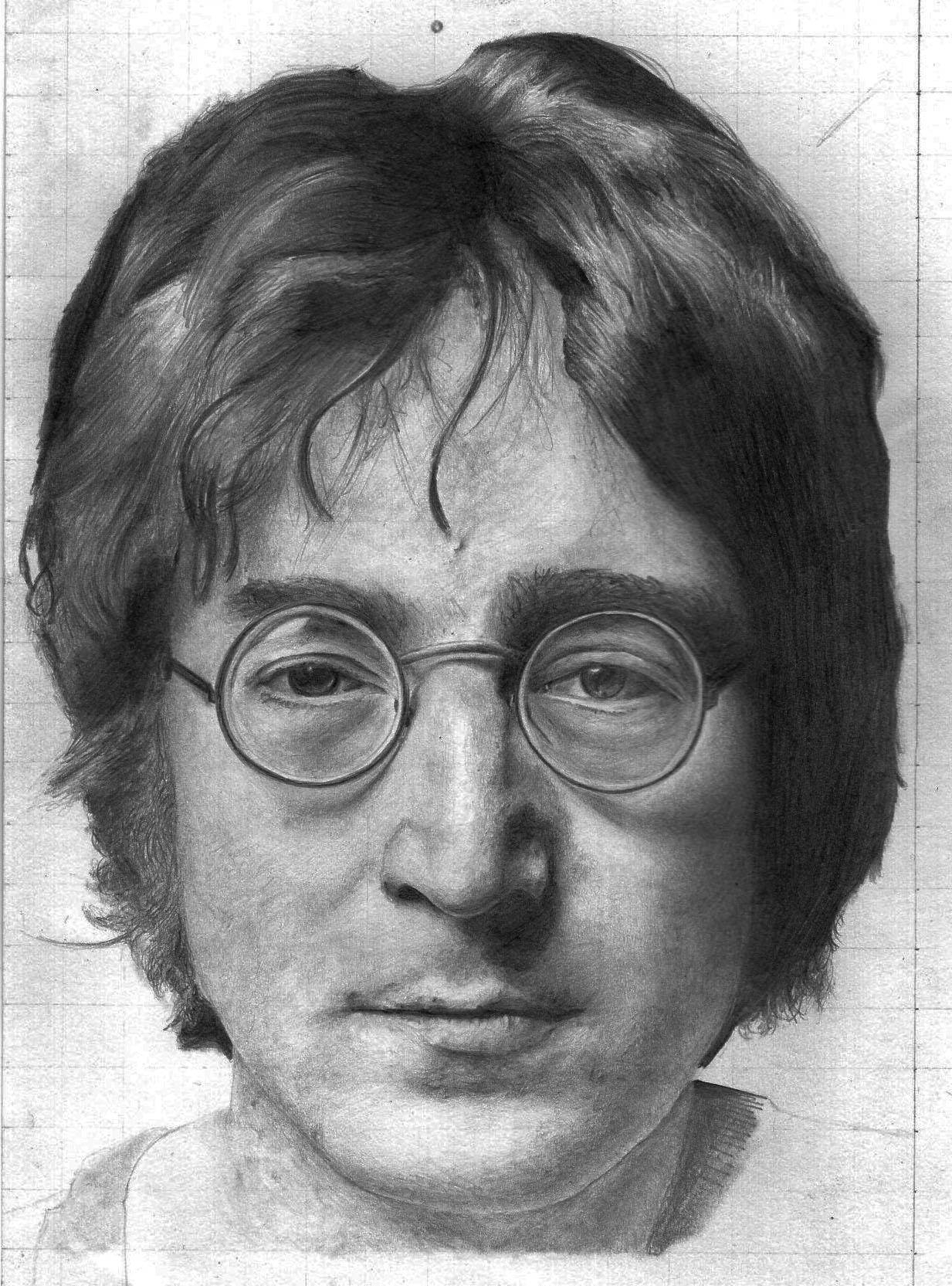 This is an image of Amazing John Lennon Drawing
