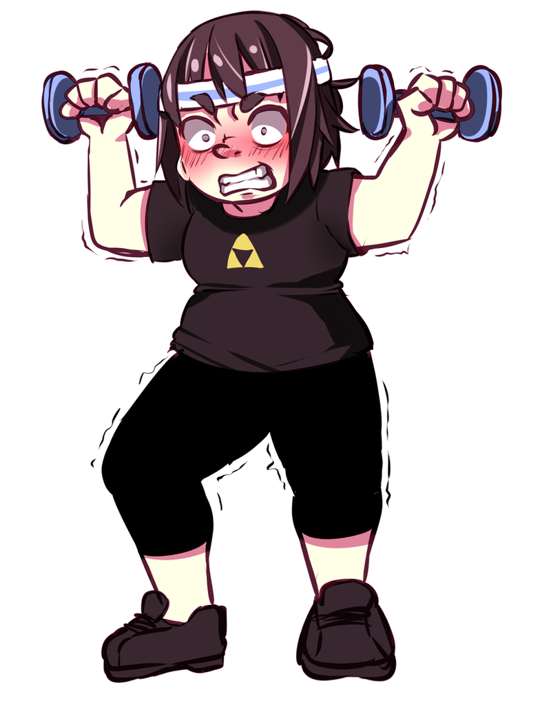 I work out by Oblibious-neesan