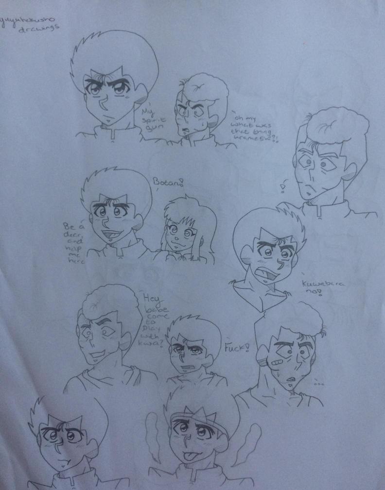 urameshi Yusuke Yu Yu hakusho doodle by Ashartz123