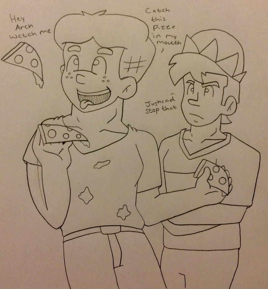 Archie and Jughead swap bodies by Ashartz123