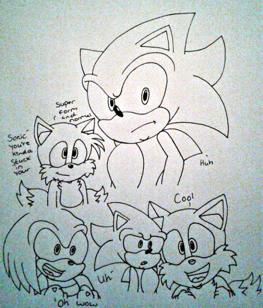 normal and super sonic by Ashartz123