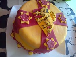Gryffindor Cake 2 by X-x-Magpie-x-X
