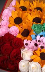 Felt Flowers by fafatonk3kusruk