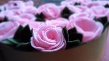 felt roses and succulent by fafatonk3kusruk