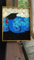 Graduation flower box by fafatonk3kusruk