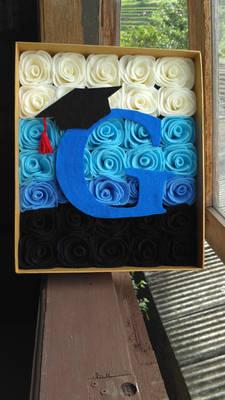 Graduation flower box