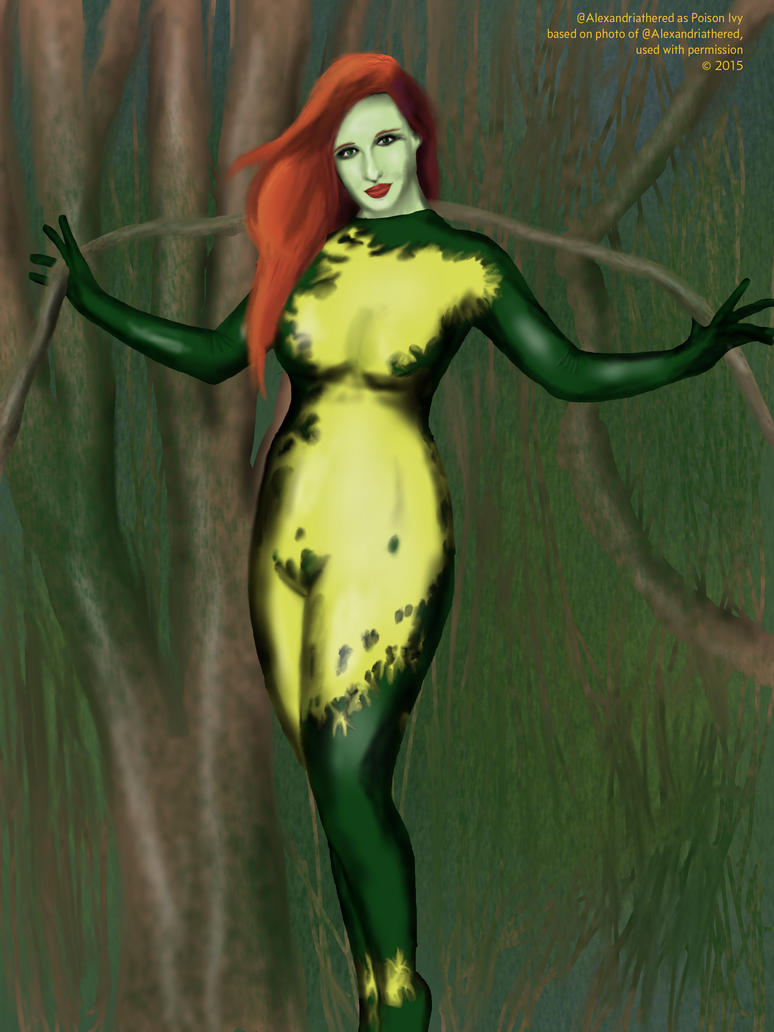 Alexandria the Red as Poison Ivy by Saxsy