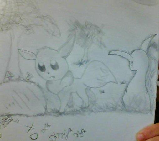 *Pokemon*Dibujos pretados(?) Eve_and_Eevee_by_Colodife