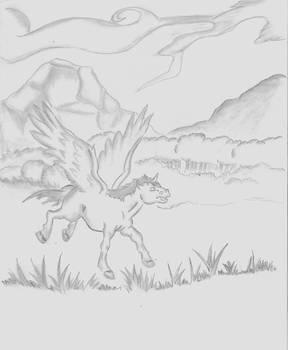 Dibujo Malui-Pegazo Peque