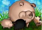 Final Pig Family-The Legend Of Zelda Wind Waker