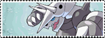 Stamp Pokemon 306-Aggron by Colodife