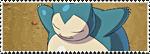 Stamp Pokemon 143-Snorlax by Colodife