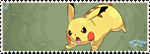 Stamp Pokemon 25 - Pikachu by Colodife