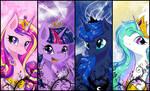 [MLP] Bookmark Princesses series.