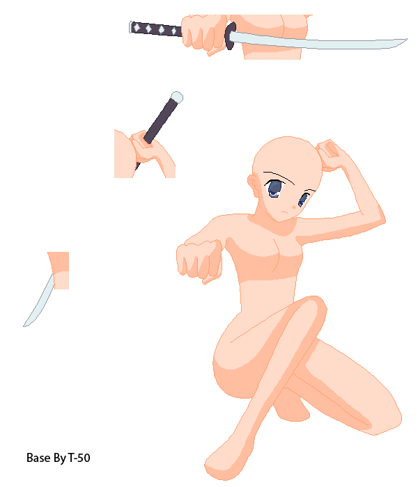 Anime boy sword base