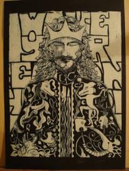 Lagarto, monocromo by Iarwain-ben-adar