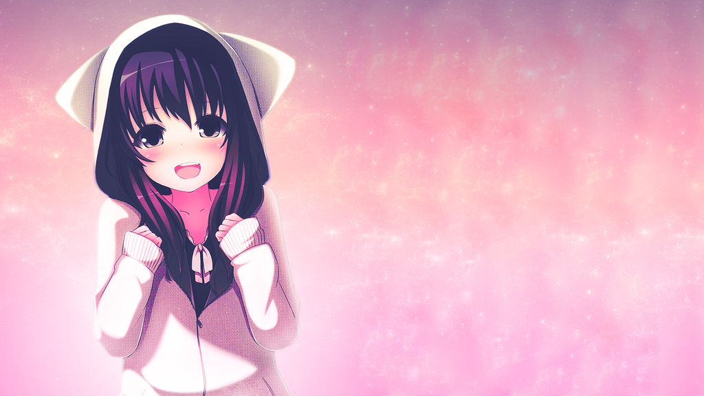 kawaii anime girl wallpaper by flopperdesigns on deviantart