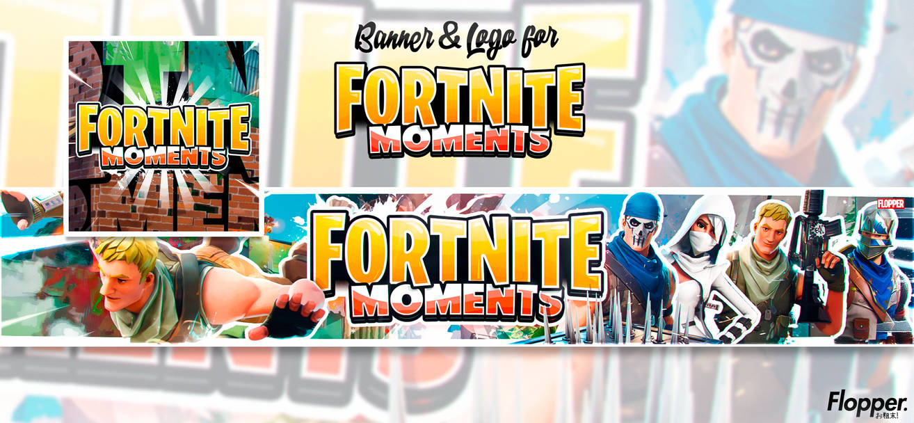 fortnite moments banner and logo by flopperdesigns - fortnite moments logo