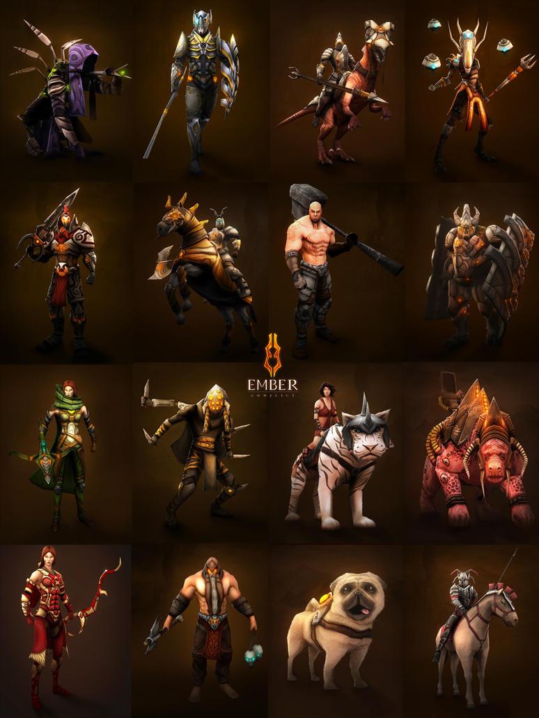 Characters by liquidminduk