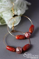 Autumn dance earrings (OOAK) by petrova