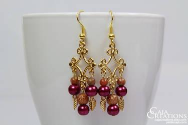 Oh October earrings (OOAK) by petrova