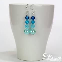 Blue Velvet earrings (OOAK) by petrova