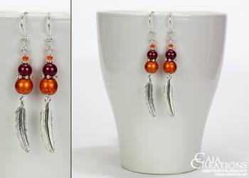 Pumpkin Patch earrings (OOAK) by petrova
