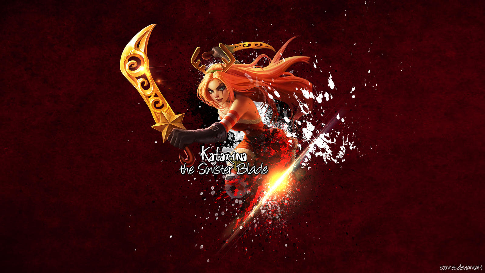 League Of Legends Katarina Wallpaper By Soinnes On Deviantart