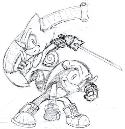 sketch-fighting duo by McKimson