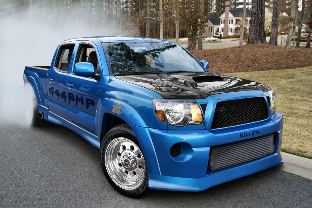 Toyota Tacoma 666BHP drag car by WSWhiteStripe on DeviantArt