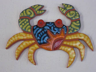 Crab on the wall by EmmiP