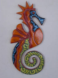 Seahorse on the wall by EmmiP