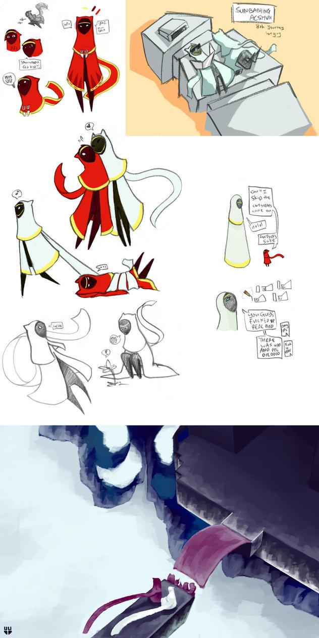 Journey Doodle Dump 1 by sketchersocks