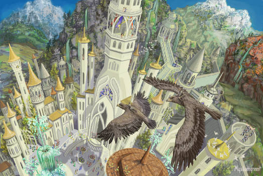 Hurin and Huor are landing in Gondolin