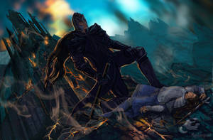 The Death of Fingolfin by Mysilvergreen