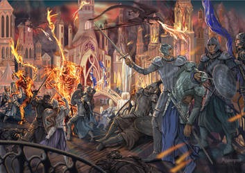 The Fall of Gondolin by Mysilvergreen