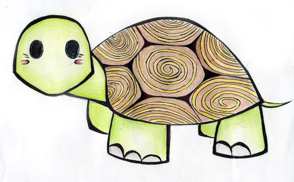 Easy cute turtle drawings - photo#11