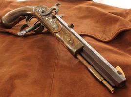 Engraved Blackpowder Pistol