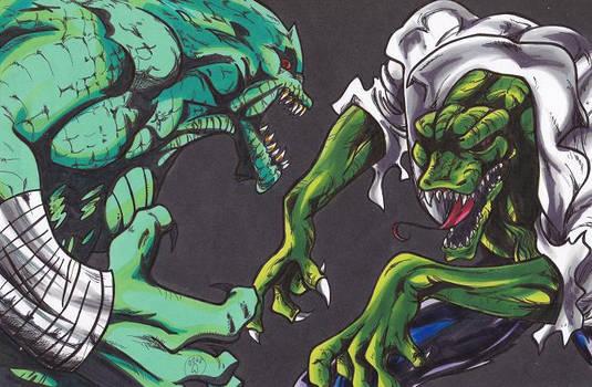 Killer Croc VS The Lizard