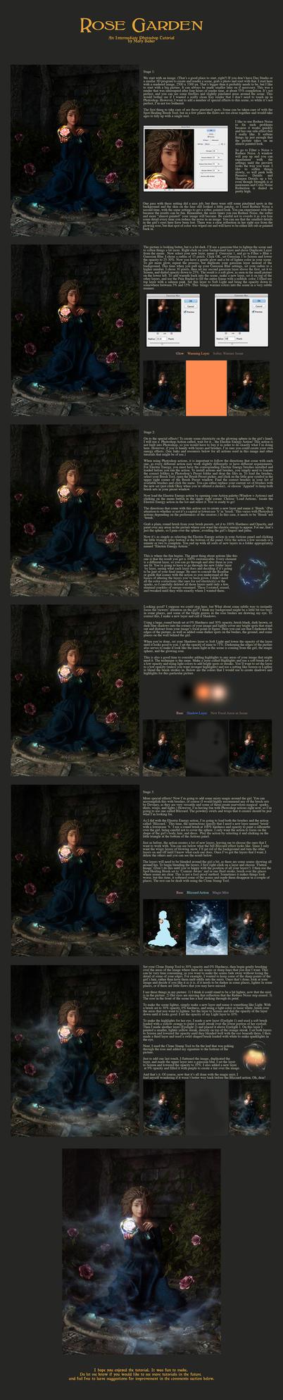 Rose Garden: An Intermediate Photoshop Tutorial by LadyofTales