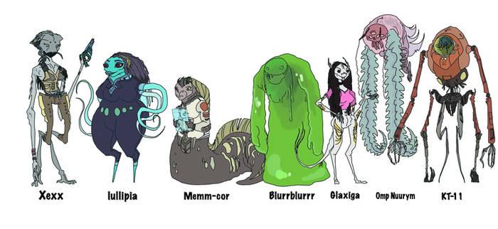 Vepa's alien friends