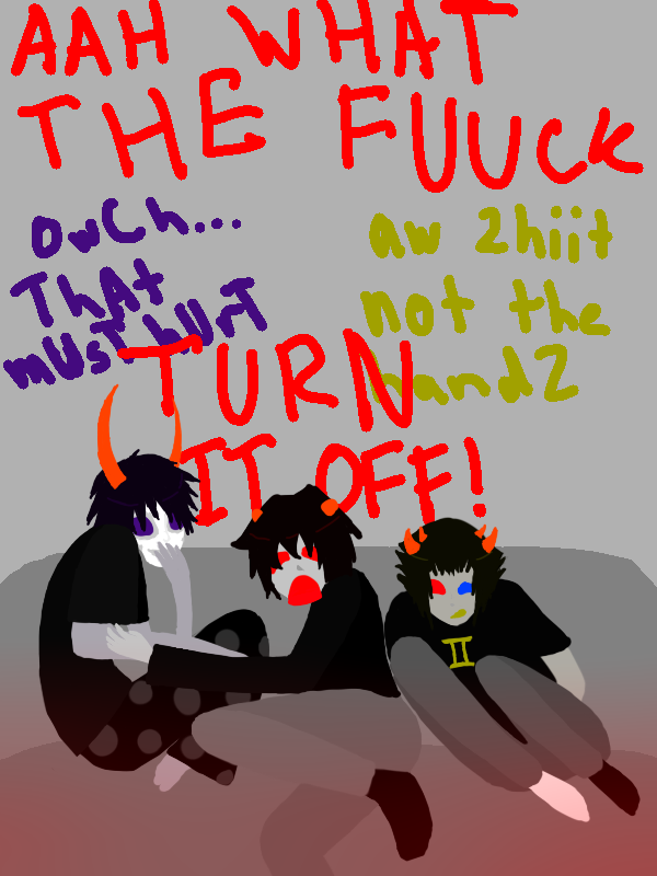 Karkat  Watch Saw with Sollux and Gamzee by Ninnz1Karkat And Gamzee And Sollux