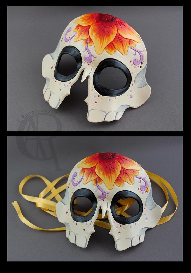 Sugar Skull Mask - Flower by CaseyAlexandra on DeviantArt