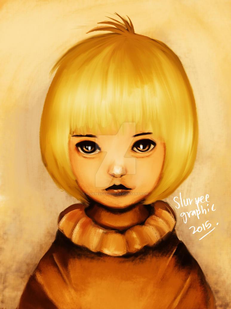 cute golden hair by slurpeegraphic