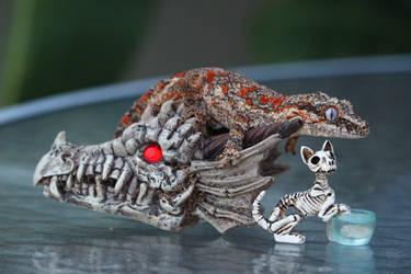 Halloween Gecko by Rachilly