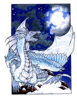Winter Dragon by Dragonmistral